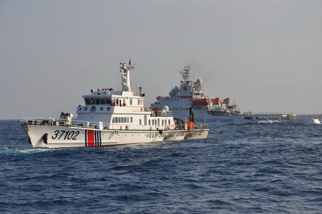 Tàu hải cảnh Trung Quốc hoạt động phi pháp trong vùng biển Hoàng Sa của Việt Nam