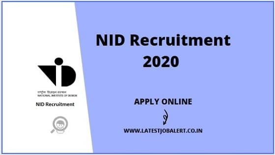 NID Bhopal Recruitment 2020 for Officers, Sr. Assistants & Assistants online form