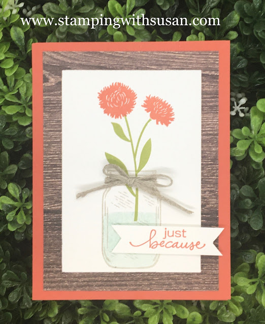 Stampin' Up!, Jar of Flowers, Lovely You, Field of Flowers, www.stampingwithsusan.com,