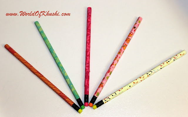 DIY Pencils - Khushi's World