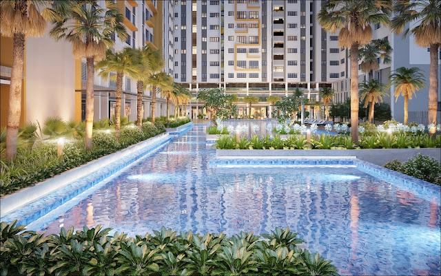 Hồ bơi căn hộ Khang Điền Song Hành Cao Tốc Quận 9