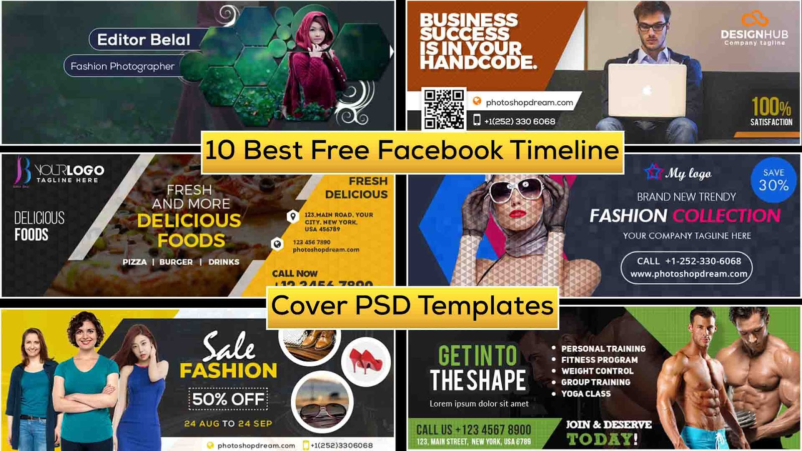New 10 Best Free Facebook Timeline Cover PSD Templates | Free