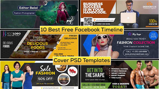 New 10 Best Free Facebook Timeline Cover PSD Templates, Free Download