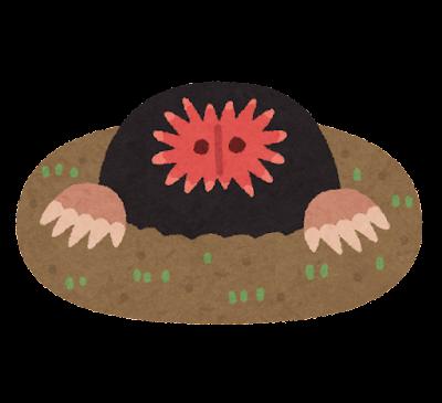 ホシバナモグラのイラスト