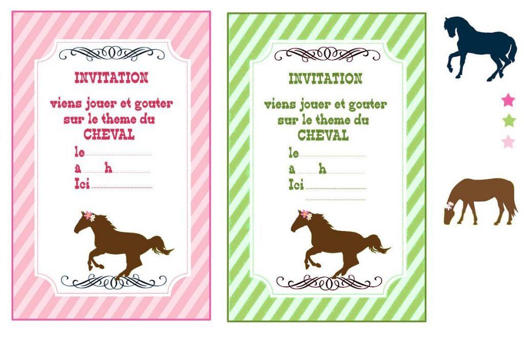 invitation anniversaire cheval