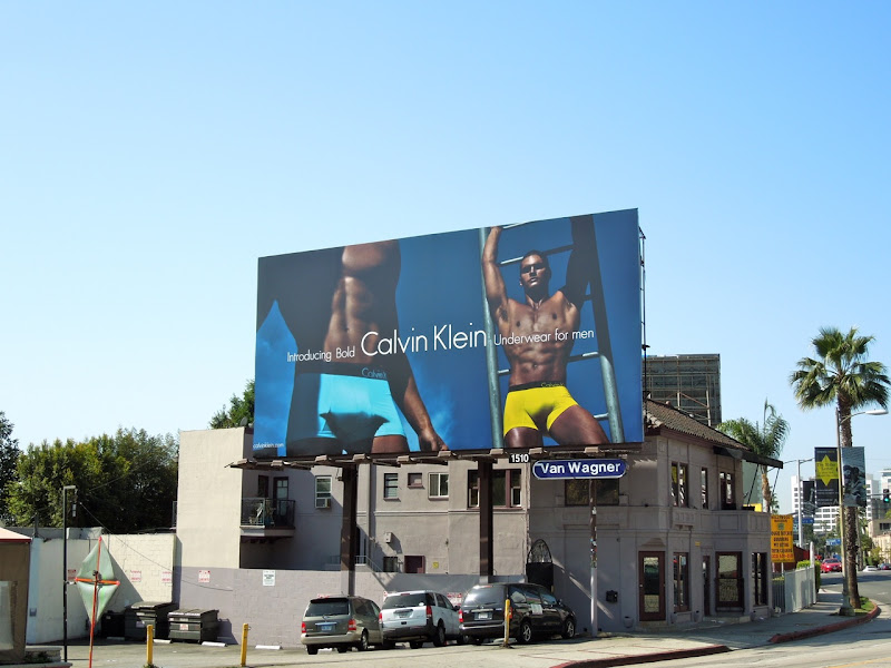 Calvin Klein Bold men's underwear billboard
