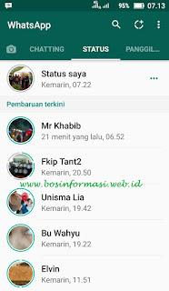 Cara melihat status teman di whatsapp versi terbaru