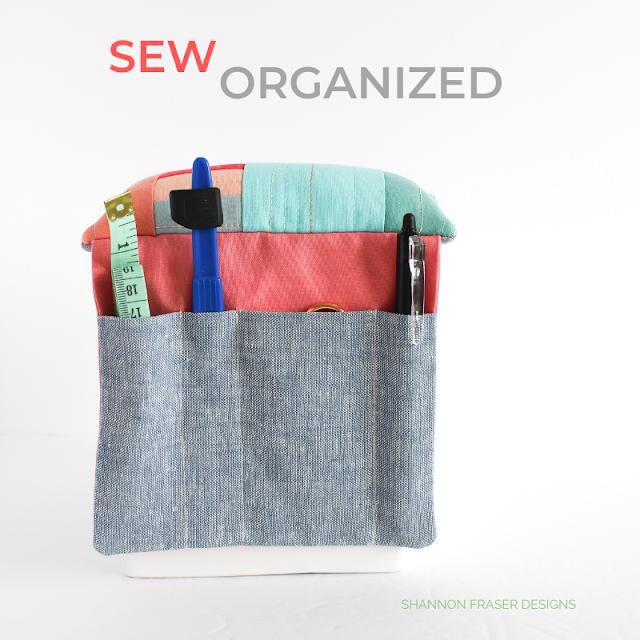 Sew Organized Pin Cushion | January Aurifil Artisan Challenge | Shannon Fraser Designs #pincushion #sewingnotions
