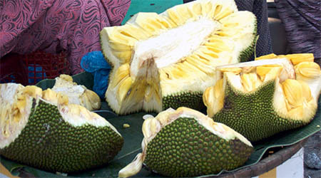 Jackfruit is the largest tree-borne fruit in the world