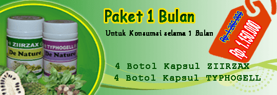 paket obat kanker 1 bulan 4 botol ziirzax ekstrak daun sirsak dan 4 botol typhogell ekstrak keladi tikus paket pengobatan kanker untuk satu minggu dari de nature indonesia