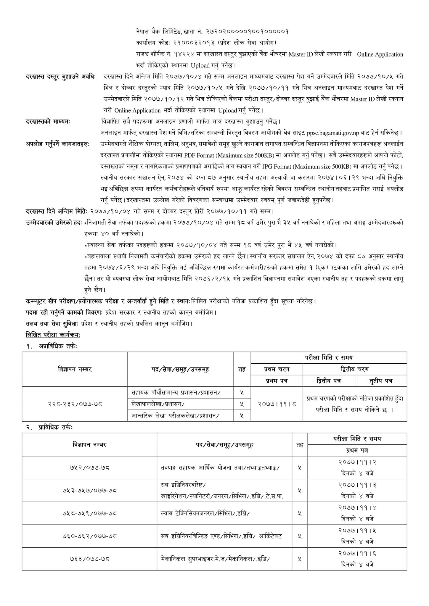 Huge Number of Vacancies of Level 5 Announced By Bagmati Pradesh Lok Sewa Aayog
