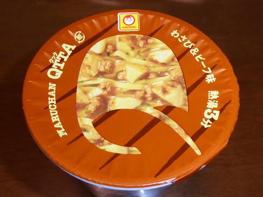 【マルちゃん(東洋水産)】QTTAクッタ わさび&ビーフ味