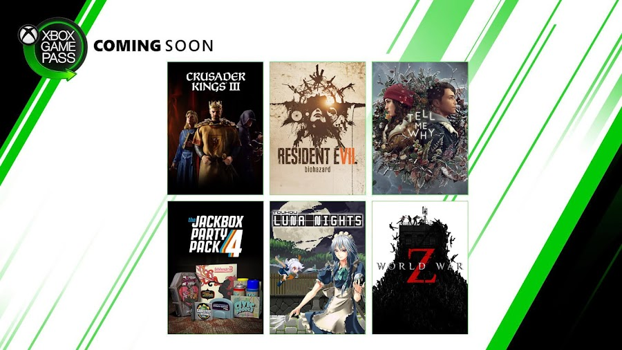 xbox game pass 2020 crusader kings 3 resident evil 7 biohazard tell me why: chapter 2 jackbox party pack 4 touhou luna nights world war z xb1