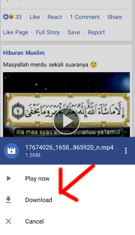 cara download video di fb tanpa aplikasi