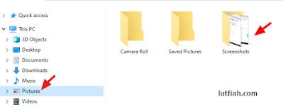folder tempat tersimpan hasil screenshort