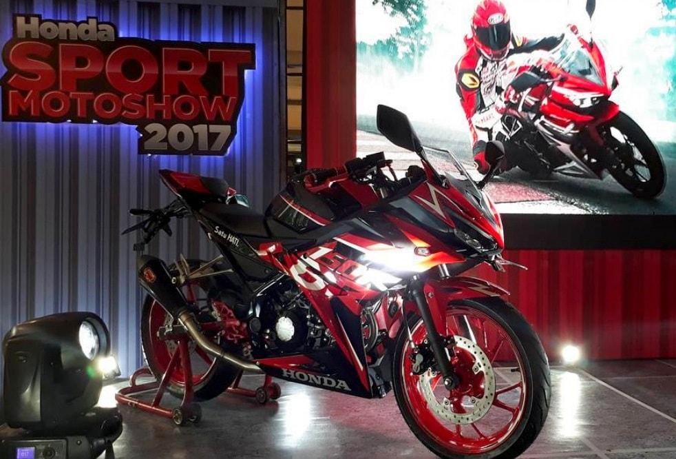 Meriahkan Honda Sport Motoshow 2017 dikota Medan, Honda CBR150R Special Edition custom ini akan dilelang