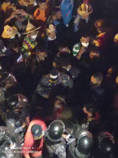 Funcionario de la PNB herido de flecha en el Puente Llaguno durante manifestaciones indígenas