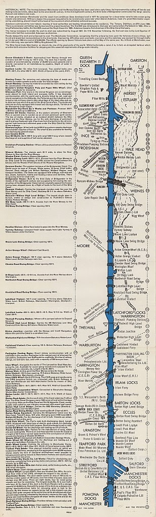 Manchester Ship Canal strip map, 1970s?