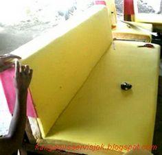 mengganti busa sofa yang rusak