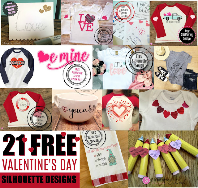 Silhouette studio files, valentine's day, free studio files, free silhouette designs, Free svg files for silhouette, silhouette 101