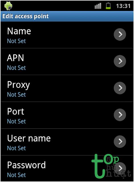 Hướng dẫn cách cài đặt GPRS cho điện thoại Android