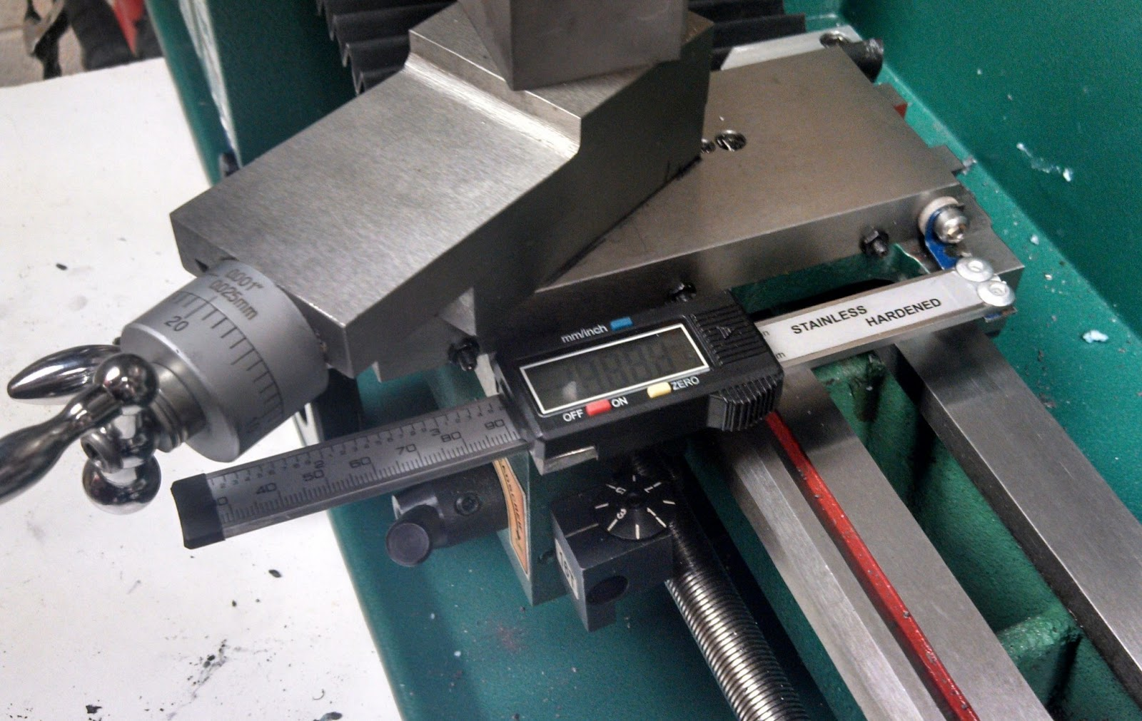 Benchtop Machine Shop Lathe Cross Slide Dro