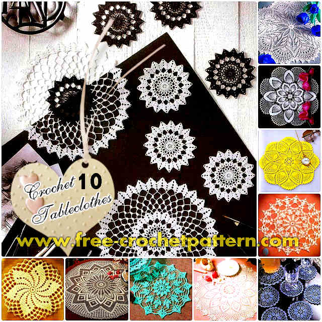 10 Awesome Crochet Tableclothes Free Patterns Free Crochet Patterns