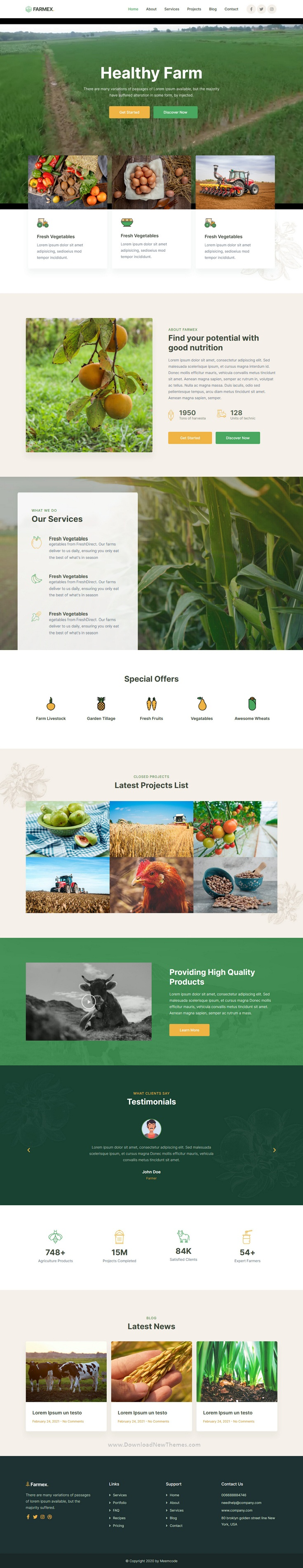 Agriculture and Farm Elementor Template Kit