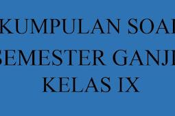 Soal Semester (UAS) dan Kunci Jawaban Bahasa Indonesia Kelas 9