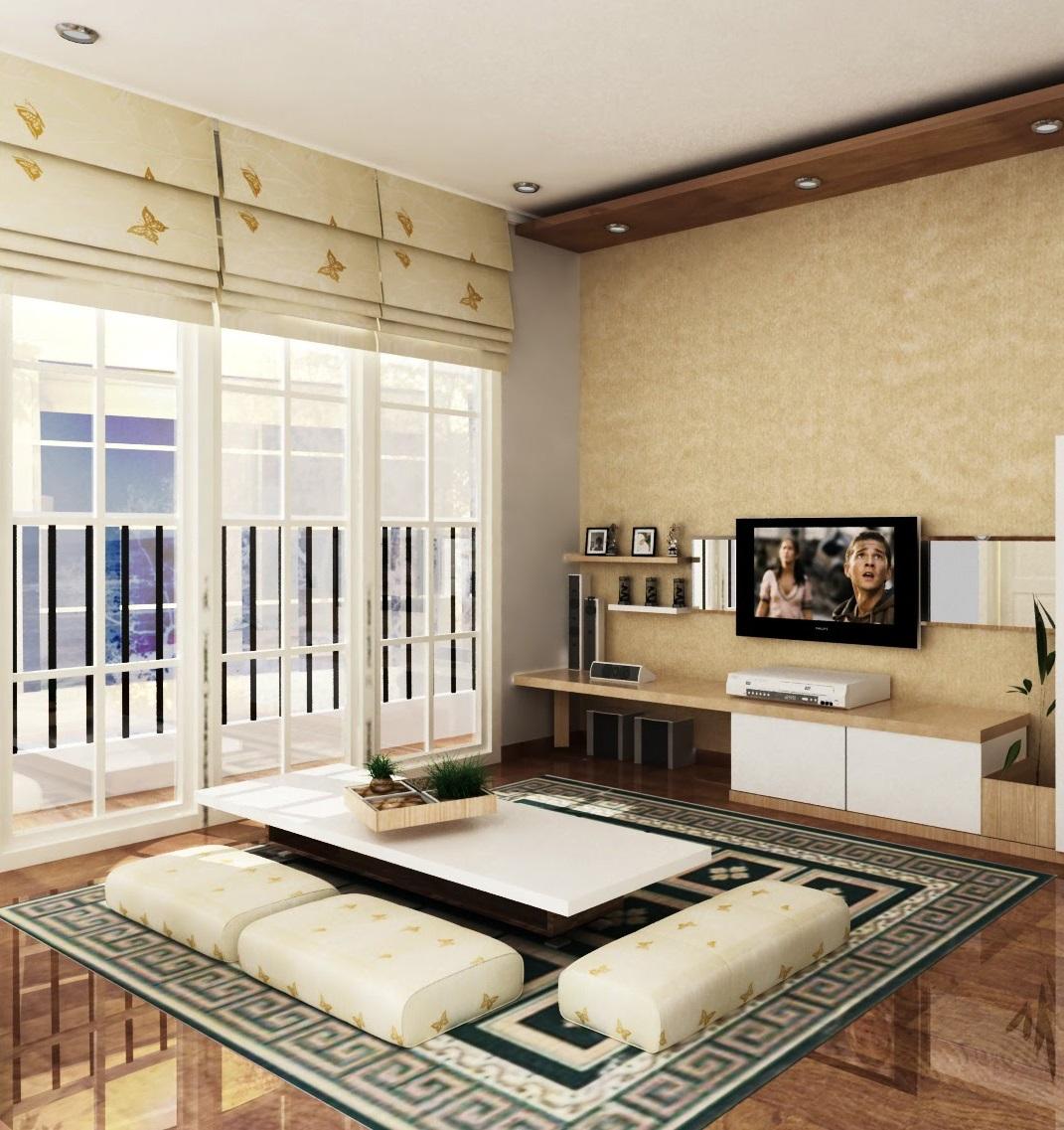 desain ruang keluarga lesehan | desain rumah terbaru