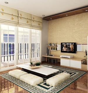 Desain Ruang Keluarga Lesehan