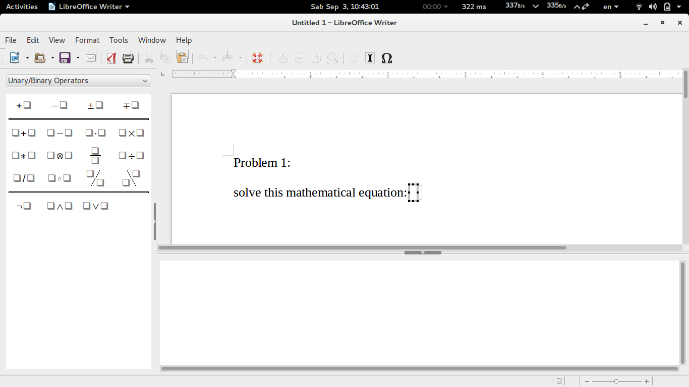 Libreoffice writer equation editor writing mathematical formulas left side you see math formula templates selection maths elements this is the first step you will always do every time you need to write a formula biocorpaavc Image collections