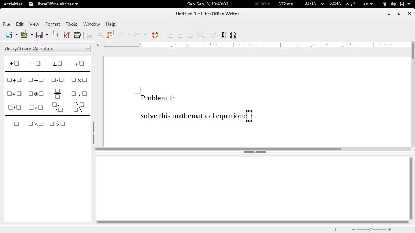 Ubuntu Buzz !: LibreOffice Writer Equation Editor: Writing
