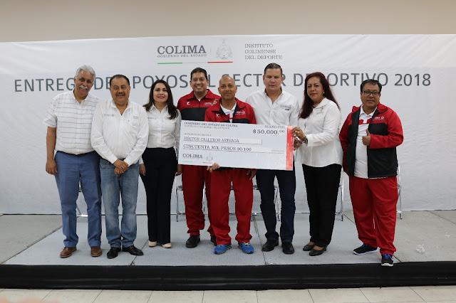 Entrega Gobierno del Estado apoyos al Sector Deportivo