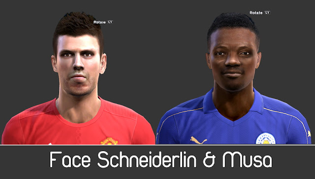 PES 2013 Face Schneiderlin and Musa by Turtle Facemaker