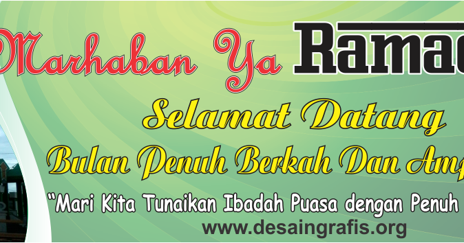 Desain Banner Marhaban ya Ramadhan cdr | Kumpulan Desain ...