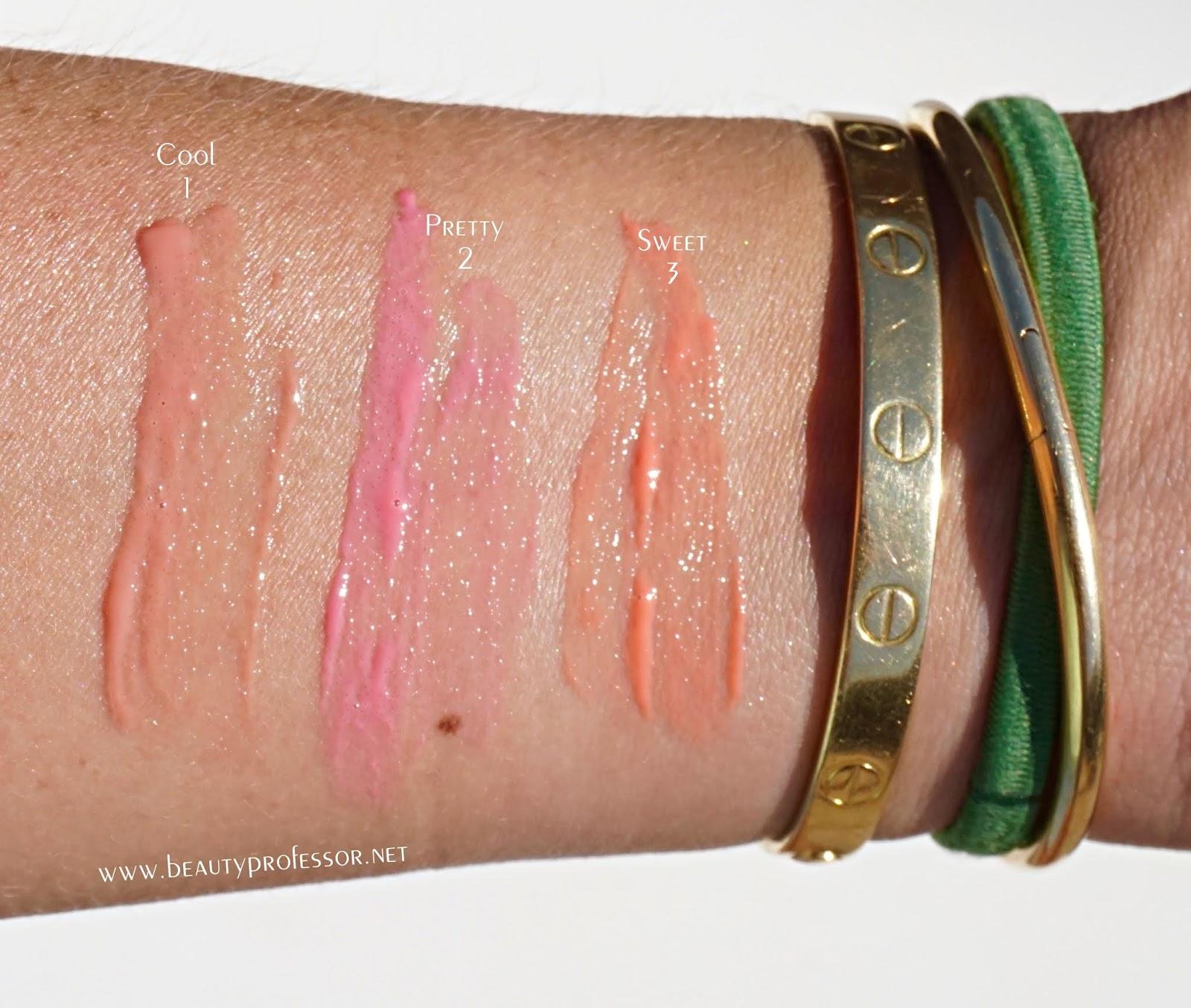 sisley lip delight swatches