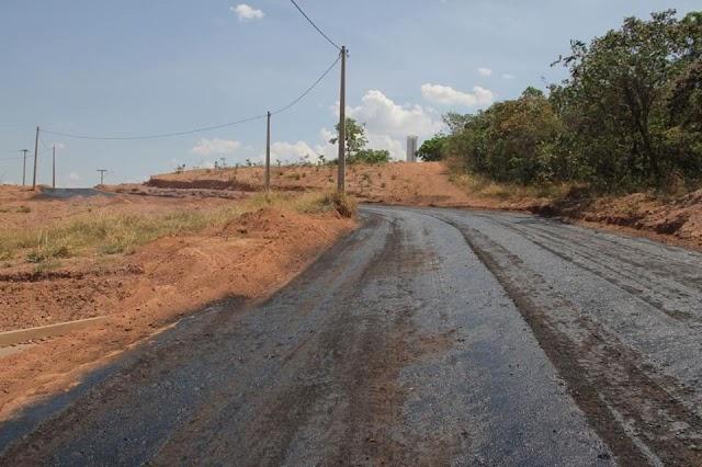 Senador Canedo: Pavimentação Asfáltica chega ao Residencial Boa Esperança