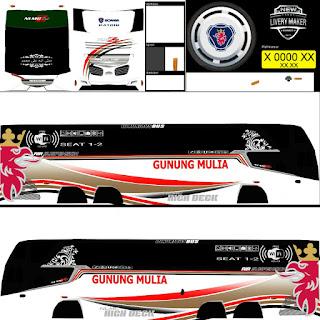 Download Livery Bus Gunung Mulia
