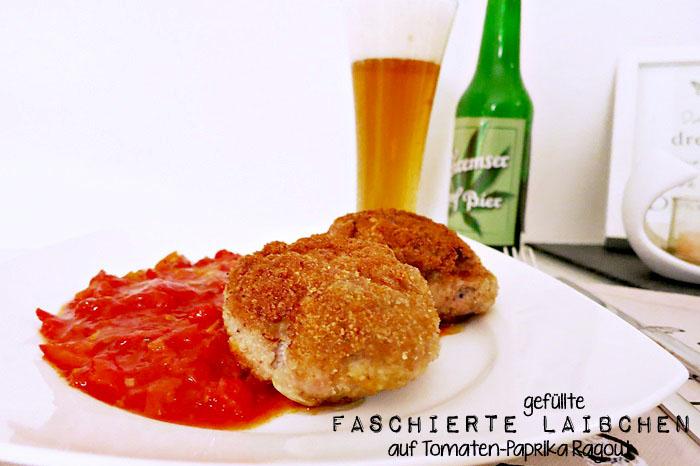 Gefüllte Faschierte Laibchen auf Tomaten-Paprika Ragout nach dem goldenen Plachutta