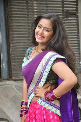 Avika Gor Looking Beautiful In Blue Saree, hd wallpapers for mobile