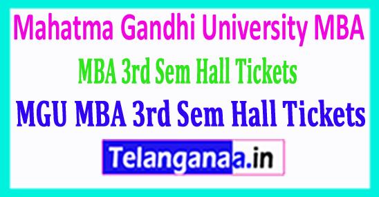 Mahatma Gandhi University MGU MBA 3rd Sem Hall Tickets Download 2018
