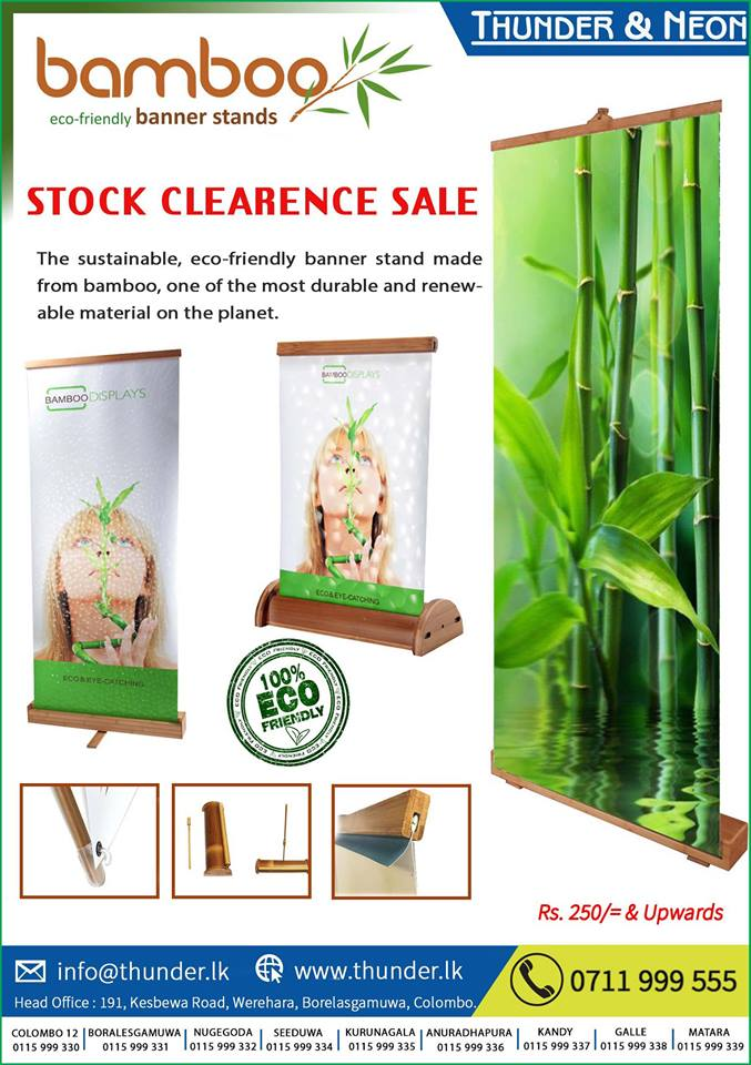 Thunder & Neon Holdings | Stock Clearance Sale ​- BAMBOO Banner Stand.