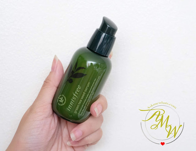 a photo of Innisfree Green Tea Seed Serum Review by Nikki Tiu www.askmewhats.com