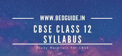 CBSE Class 12 Syllabus 2019-2020 PDF