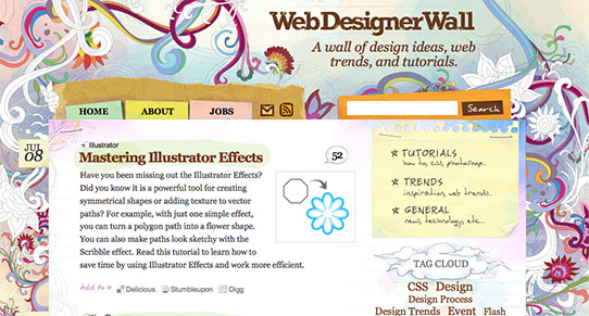 WebDesignerWall website