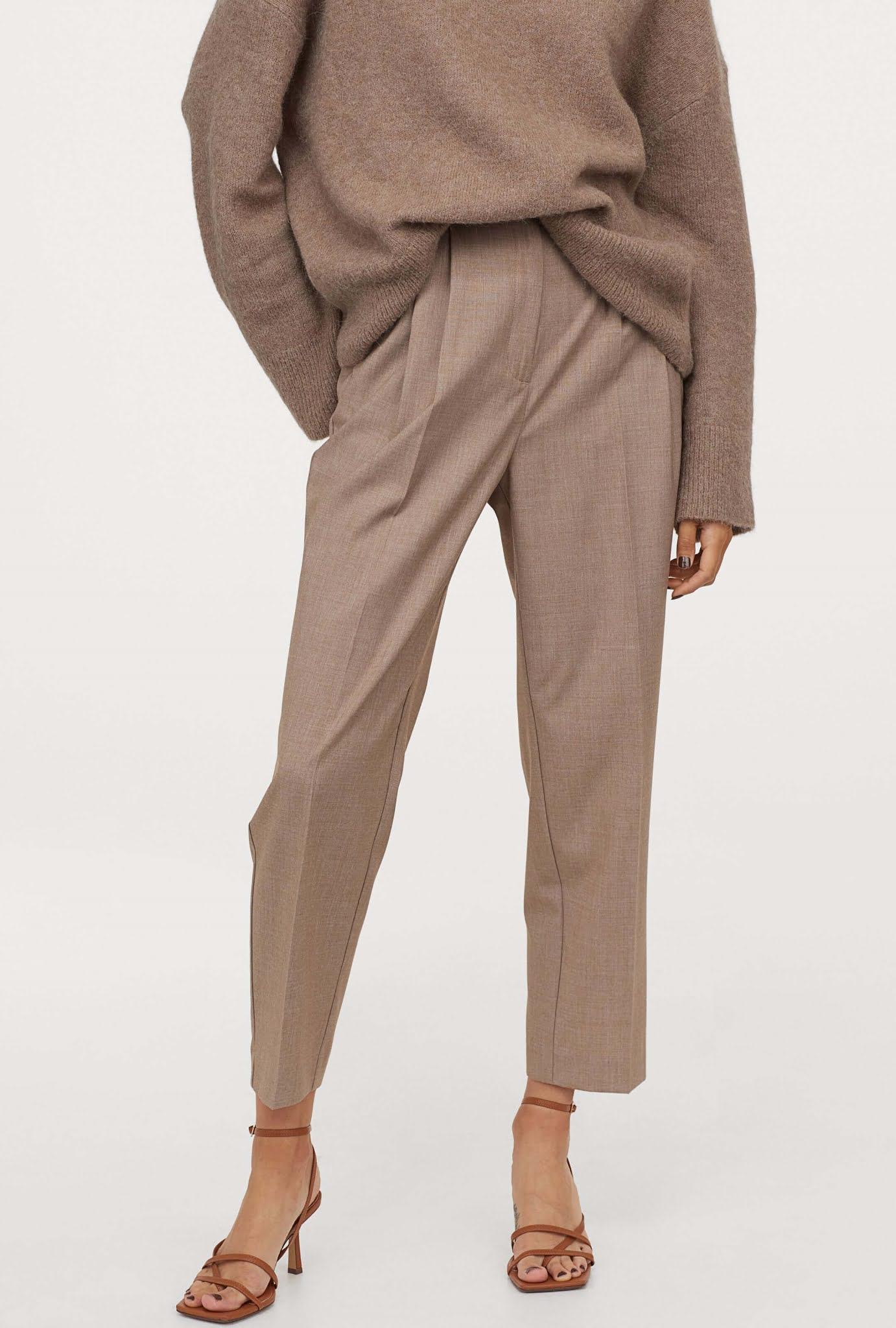 beige creased pants