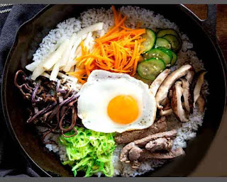 Bibimbap Korean Food Menu