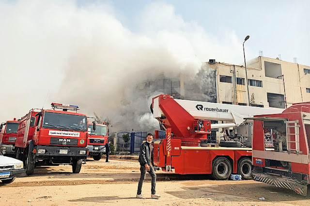 Fire in textile factory in Egypt - 20 killed, 24 injured, accident in Ober, near the capital Cairo, 15 vehicles were put out to extinguish the fire