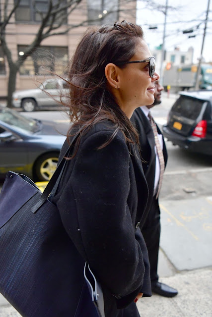 Katie Holmes Clicked Outside in New York 16 Dec-2019